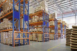 үйлдвэрт олон давхар тавиур бүхий агуулах