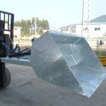 Гидравлик хувин бүхий 3 тонн ачааны хайрцаг